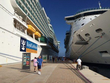 Departing the ship @ Cozumel