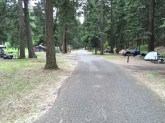 One of the tent camping areas