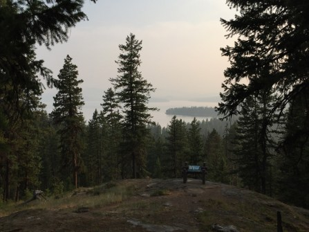 Hazy view from our hike