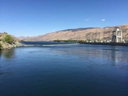 Backside of dam