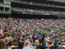 Lots of blue in the stands