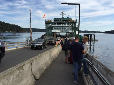 Waiting to board at Orcas Island