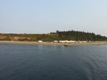 Fort Casey campground as ferry departs