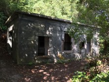 Building tucked away at the end of the Rifle Range Trail