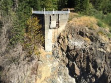 Only part left of east side of dam