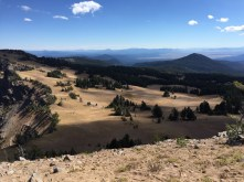View away from lake from top of Garfield Peak
