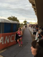 Swimmers running to transition