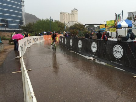 Finishing bike portion