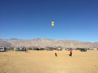 Seth flying Brandon's kite