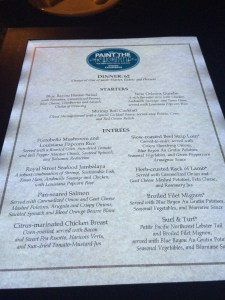 Paint The Night Menu