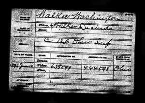 Walker, Washington Civil War Pension Index