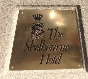 Shelbourne Hotel Plaque