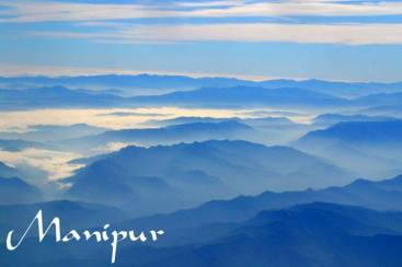 chinglon mapanna koisanba (Surrounded by 9 folds of mountains).....taken from Flight near Imphal valley