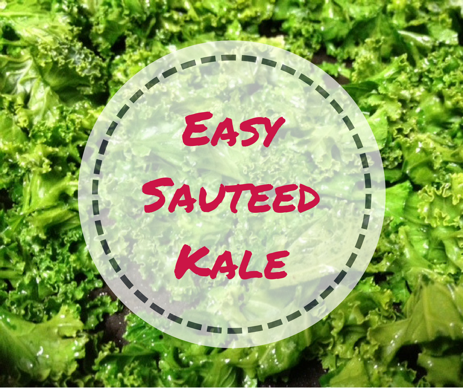Easy Sauteed Kale, a perfect weeknight side dish | ready in 5-10 minutes & packed full of healthy stuff, this goes with every kind of meal! #kale #sidedish #healthy
