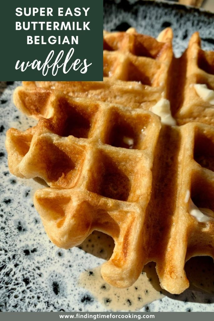 Delicious, Easy Buttermilk Belgian Waffles | This super easy waffle recipe has been a brunch staple in my family since I was a kid, perfect for any day! It's a recipe where you don't have to whip the egg whites, so only takes a few minutes to make...the best waffle recipe around. #bestwaffle #waffles #breakfast #brunch