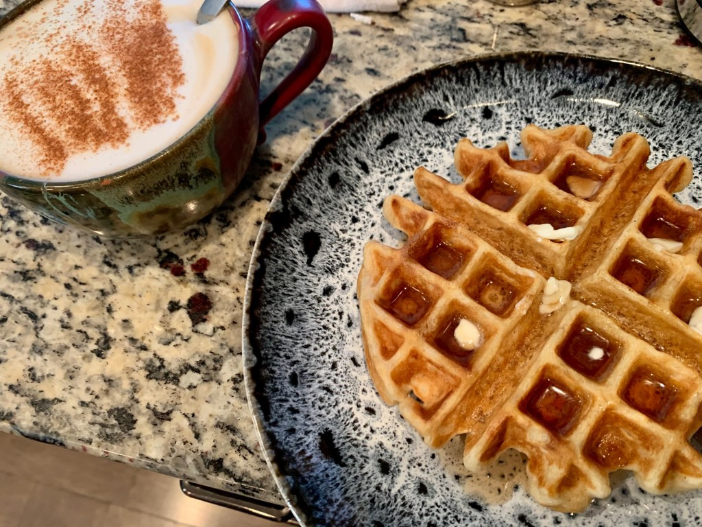 Easy belgian waffles, perfect for breakfast or brunch any day