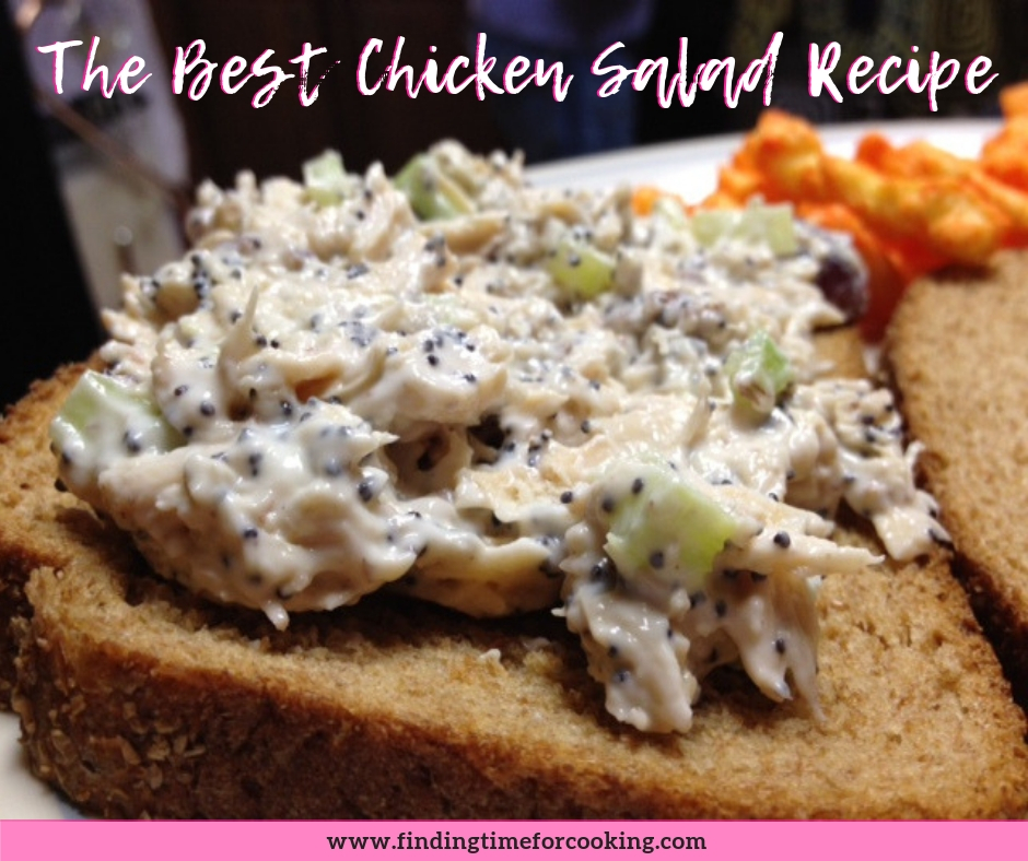 The best chicken salad recipe ever! Aunt Tina's chicken salad recipe will beat every other one, hands down. A little sweet, a little tangy, and great texture. #chickensalad #best #recipe #familyrecipes