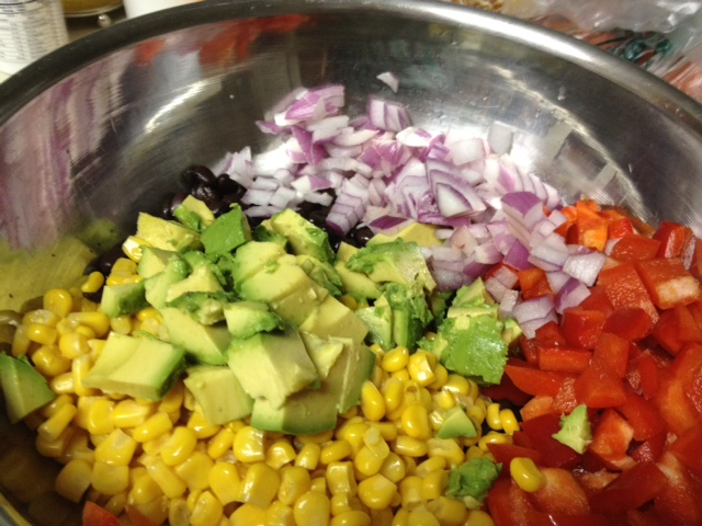 corn & black bean salsa ingredients