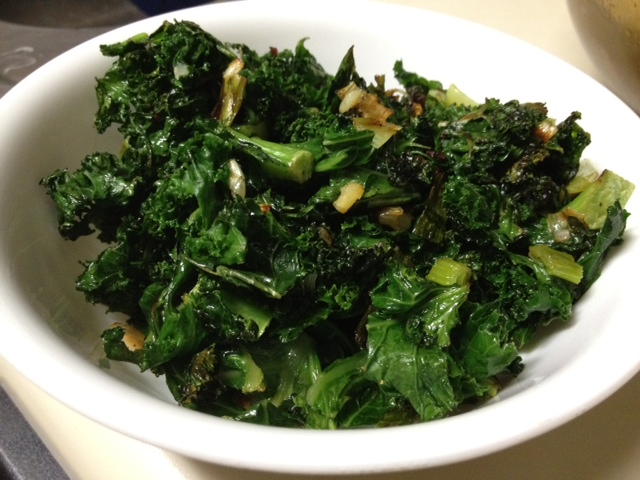 sauteed kale with scallions