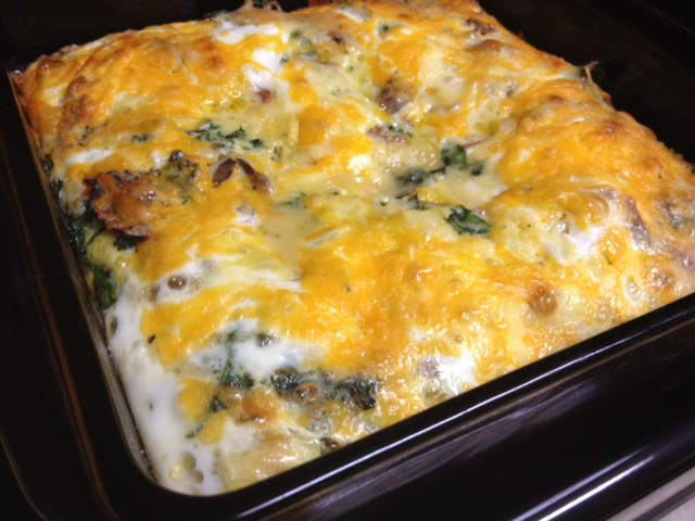 Kale, Bacon, & Egg Breakfast Casserole