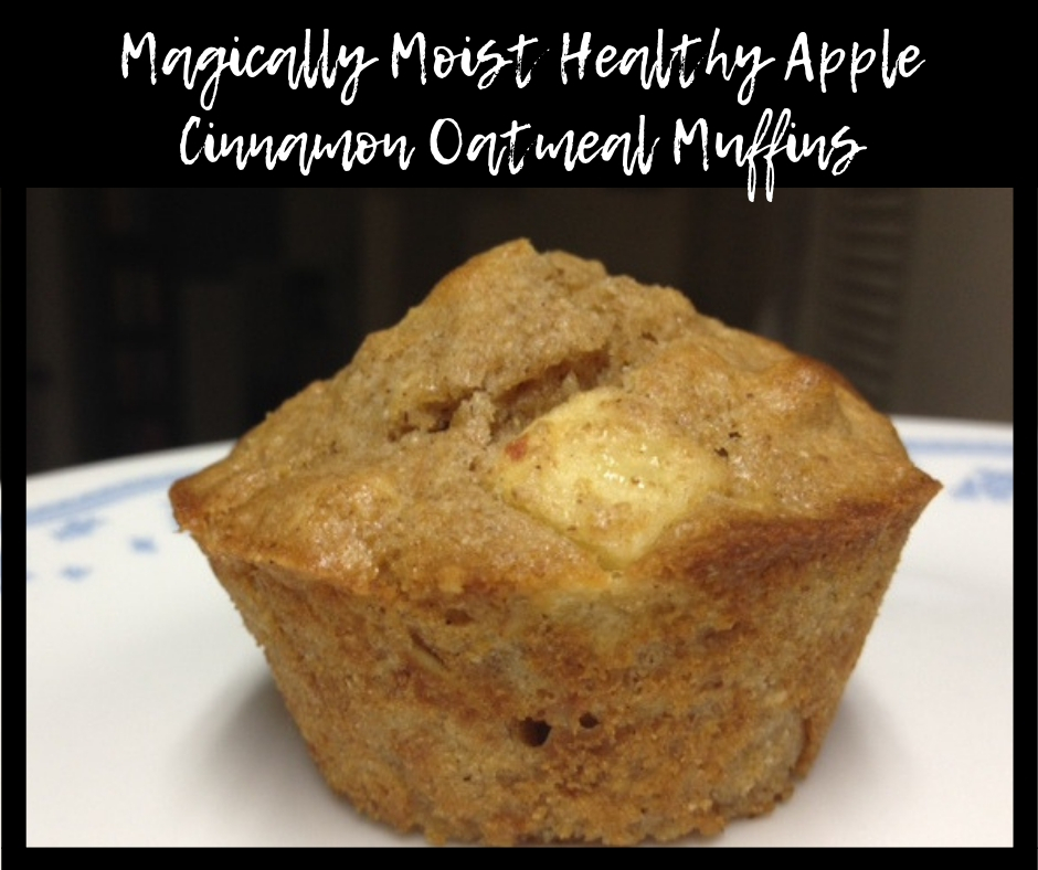Healthy Apple Cinnamon Oatmeal Muffins | these magically moist muffins are delicious and healthy, perfect fresh out of the oven and for a few days after...a great healthy breakfast! #muffin #healthybreakfast #oatmeal #apple #applecinnamon #breakfast #onthego #wholewheat