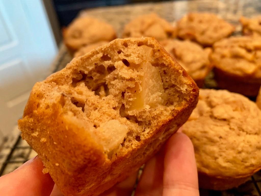 Moist apple cinnamon oat muffins