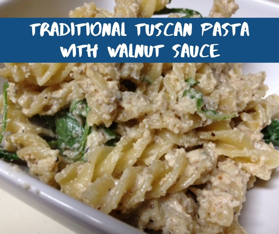 Traditional Tuscan Pasta with Walnut Sauce & Arugula | finding time for cooking