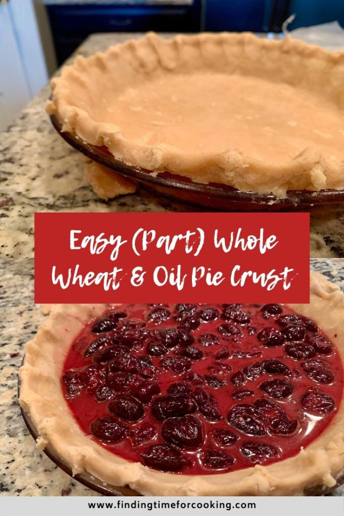 Easy Oil & Whole Wheat Pie Crust | This whole wheat pie dough recipe is easy to make (though a little crumbly) and uses part whole wheat flour, oil, and is naturally dairy-free. The whole wheat adds a deeper, nutty flavor to your pies! #healthydessert #piecrust #wholewheat #dairyfree