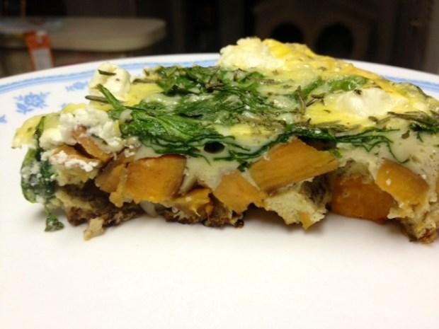 sweet potato frittata finished