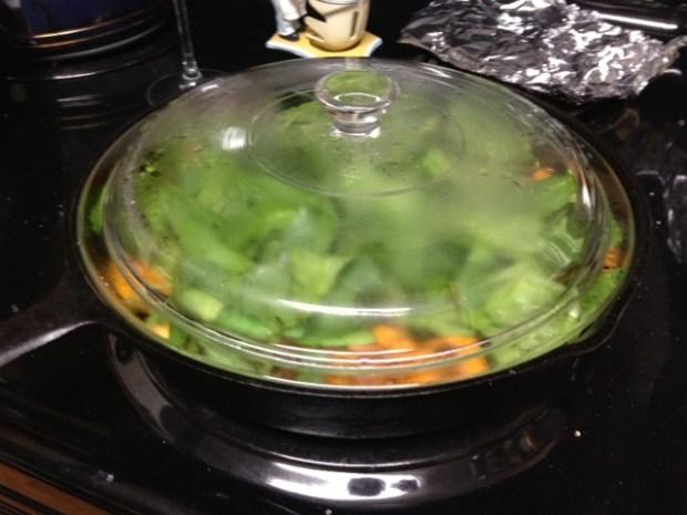sweet potato frittata spinach wilting