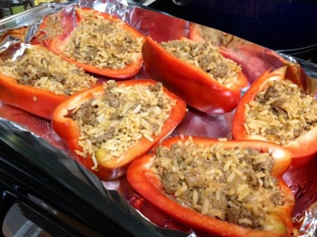 stuffed peppers pepper halves full