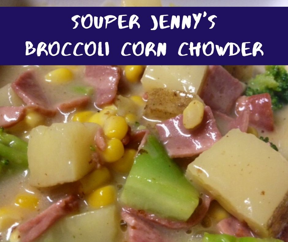 Souper Jenny's Broccoli Corn Chowder | A delicious and hearty soup that's full of flavor and easy to make.  #healthydinner #soup