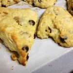 Brown Butter Scones with Roasted Pear & Dark Chocolate
