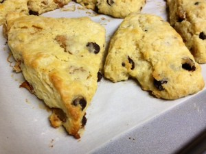 pear brown butter scones finished