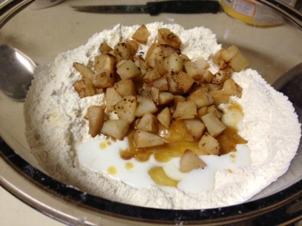 pear brown butter scones wet ingredients