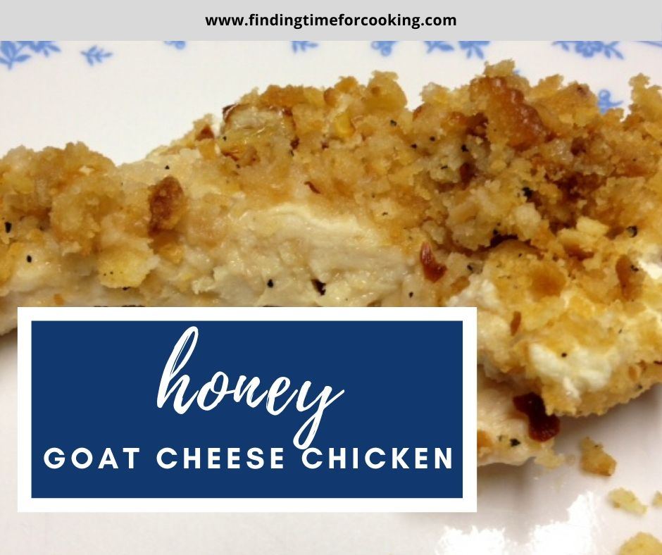 Easy Honey Goat Cheese Chicken | This easy chicken recipe is a perfect 30-minute meal, great for any weeknight.  Only 5 minutes of prep will have a healthy dinner on the table fast! #chickenrecipe #30minutemeal #easydinner #dinnerrecipe #goatcheese