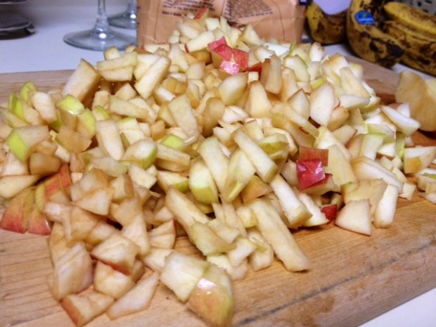 honey apple cake apples chopped