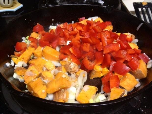 sweet potato red pepper frittata cookin