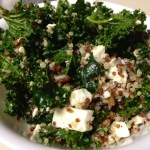 Kale & Quinoa Salad with Feta & Pecans