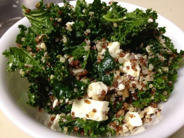 kale quinoa salad finished