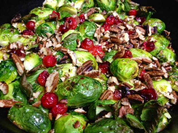 brussel sprouts cranberries finished