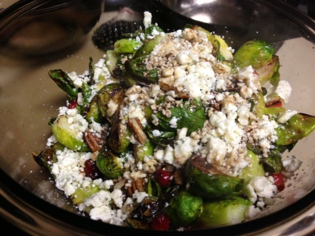 brussel sprouts cranberries gorgonzola