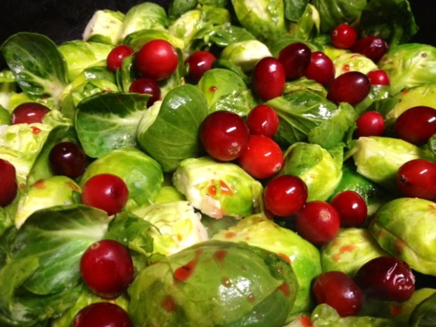 brussel sprouts cranberries sauteeing2