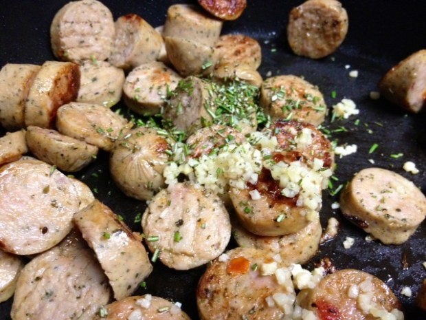 trottole peppers goat cheese sausage garlic