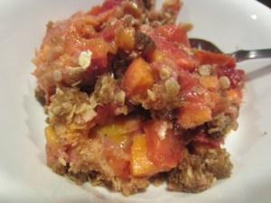 peach cardamom crisp finished closeup2
