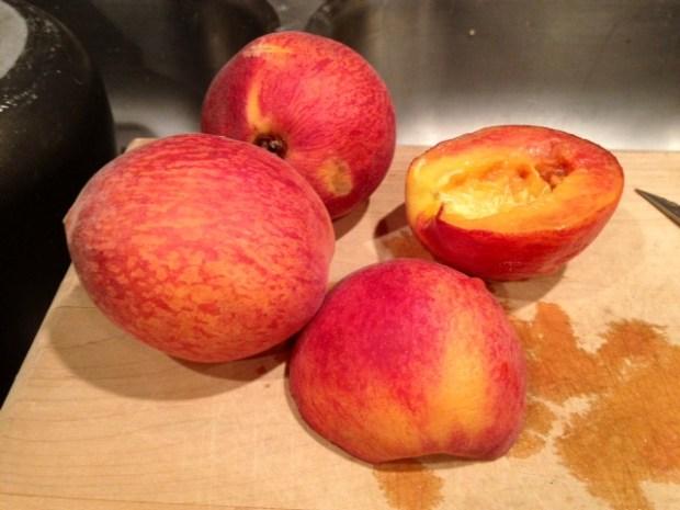 peach cardamom crisp peaches