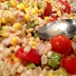 Tomato Grilled Chicken with Barley Corn Salad