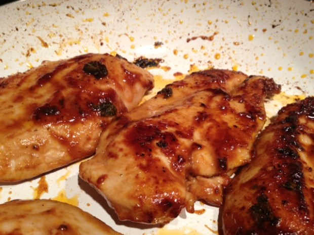 barbecue chardonnay chicken finished