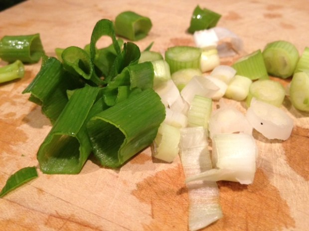 kohlrabi greens & stems green onions
