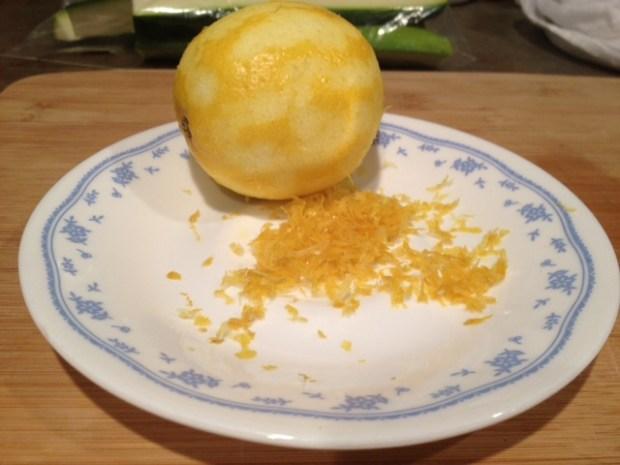 grilled zucchini with lemon salt lemon zest